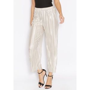 Topshop gold pleated pants